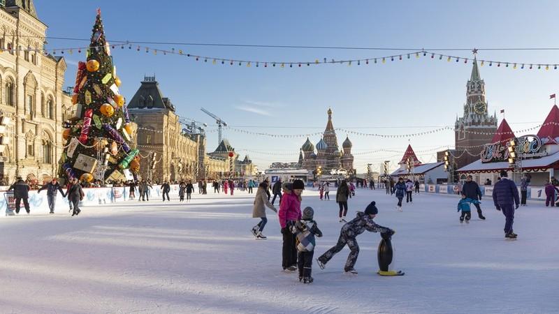 Москва Красная площадь каток